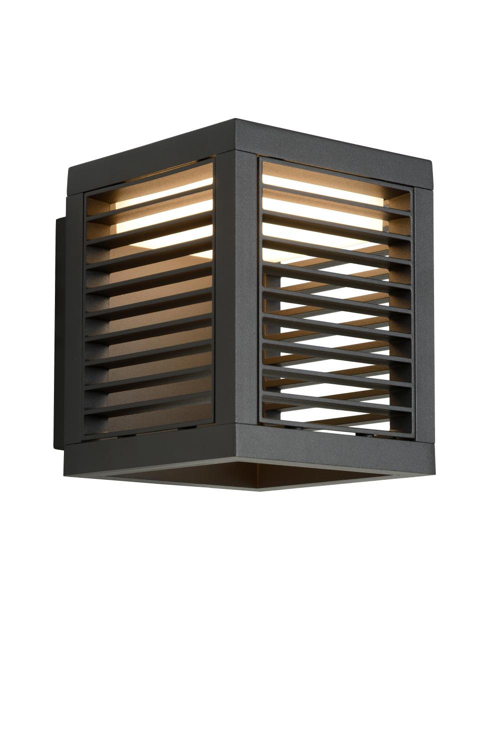 Lucide SLITS Wandlamp Buiten-Antrac.-LED-14W-3000K/2700K