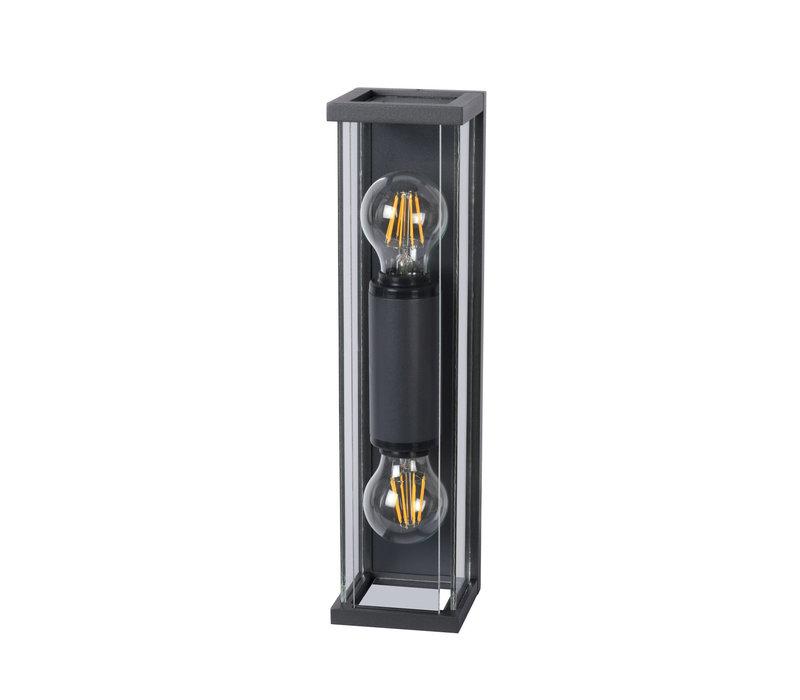 CLAIRE MINI Wandlicht IP54 2xE27 H36cm Antraciet