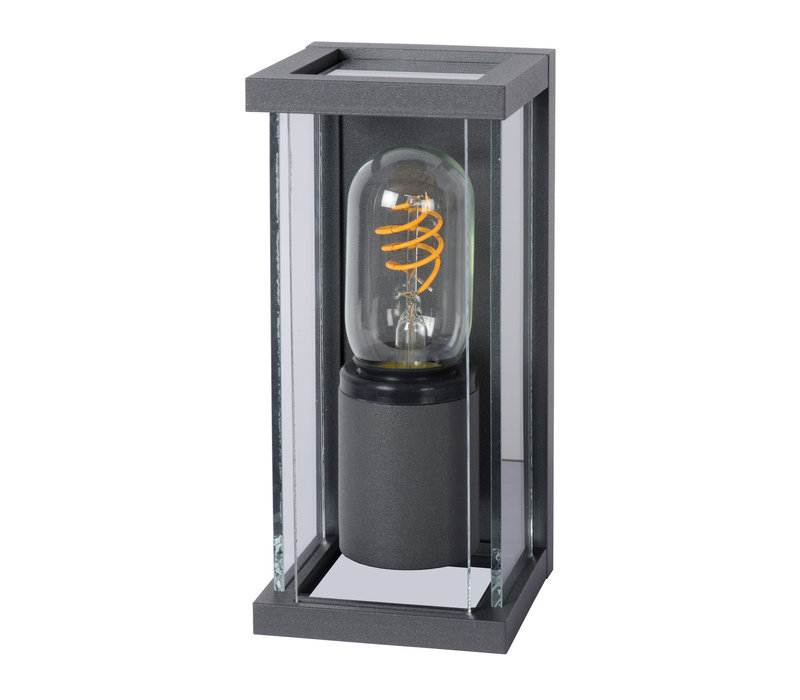 CLAIRE MINI Wandlicht IP54 1xE27 H20cm Antraciet