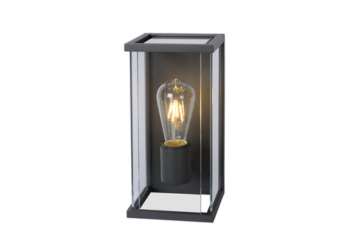 Lucide CLAIRE-LED Wandlicht + IR IP54 1xE27 Max60W Antrac