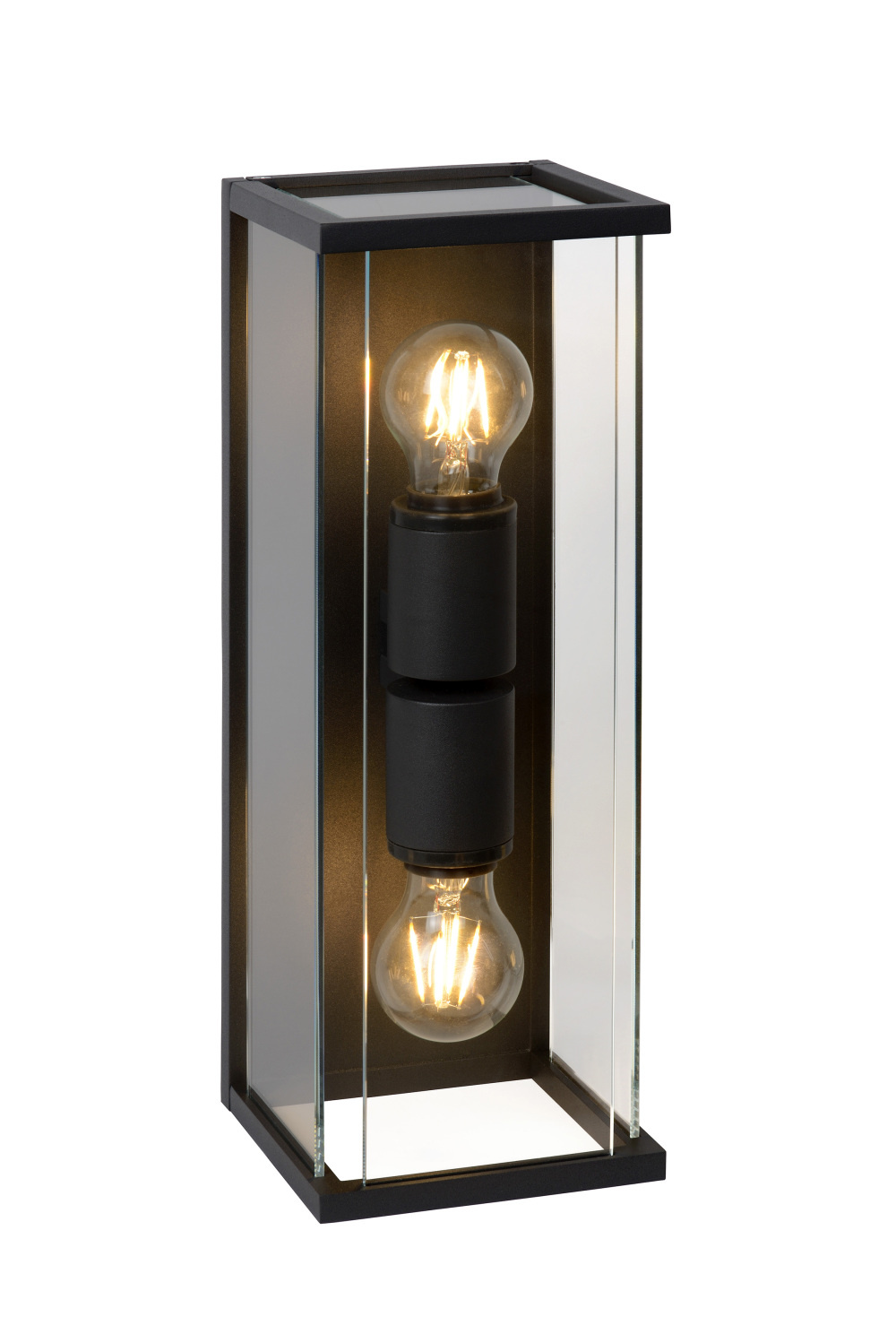 Lucide CLAIRE-LED Wandlicht IP54 2xE27 Max 60W Antracie
