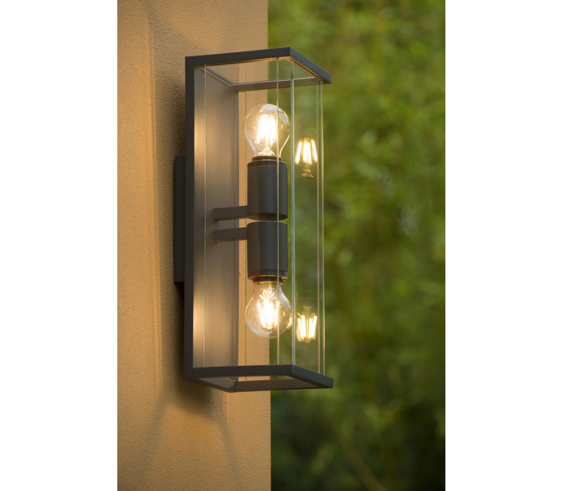 CLAIRE-LED Wandlicht IP54 2xE27 Max 60W Antracie