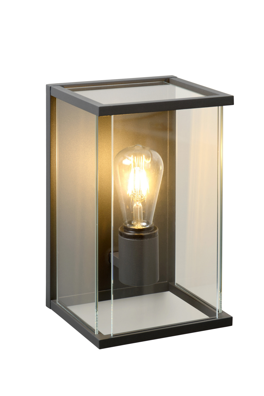 Lucide CLAIRE Wandlamp Buiten-Antrac.-1xE27-60W-IP54-Glas