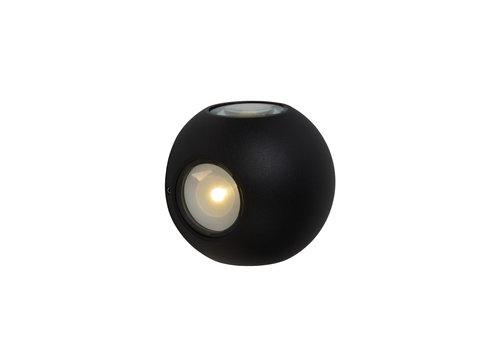 Lucide YUPLA Wandlicht LED 4x2W IP65 3000K Zwart