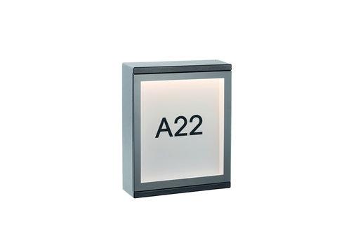 Lucide CADRA Wandlicht LED 6W IP65 L16 W5 H20cm Zwart