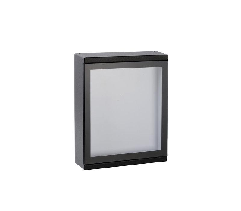 CADRA Wandlicht LED 6W IP65 L16 W5 H20cm Zwart