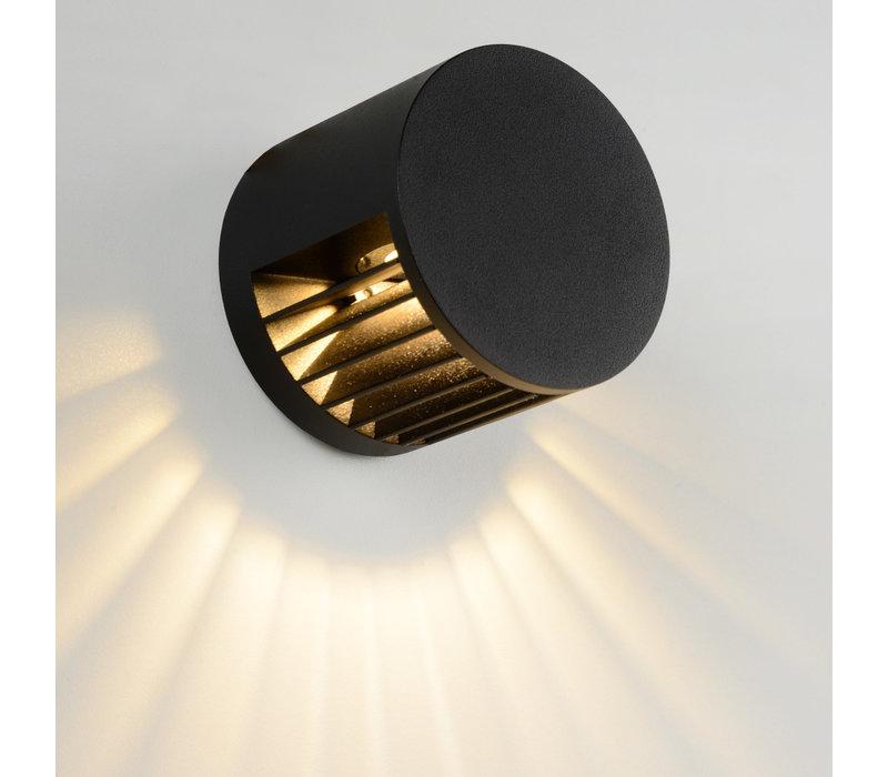 SCOPE Wandlicht IP65 LED 4W Ø7.9cm Zwart