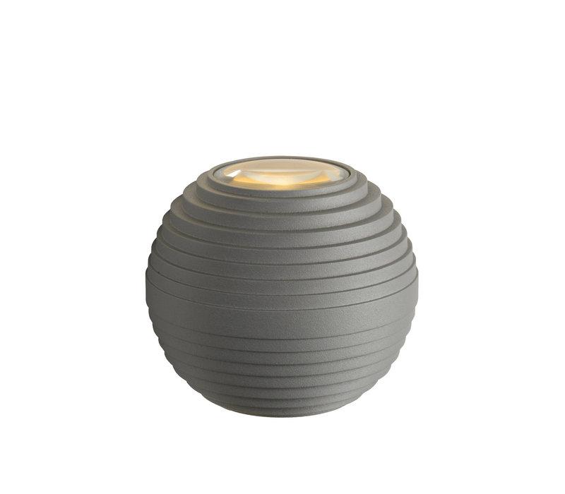 AYO Wandlicht LED 2x3W IP54 2700K Grijs