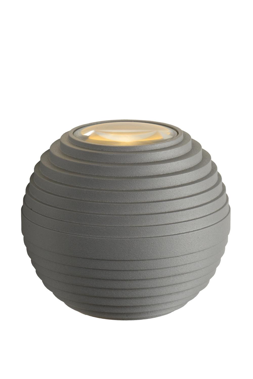 Lucide AYO Wandlicht LED 2x3W IP54 2700K Grijs