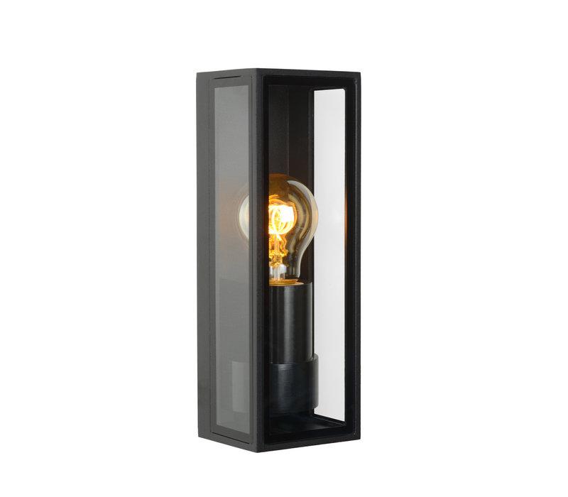 DUKAN Wandlamp buiten E27/15W Zwart