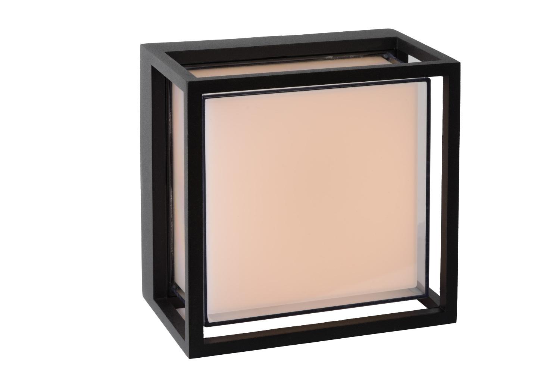 Lucide SINGA Wandlicht LED 9.6W IP54 17/17/10cm Zwart