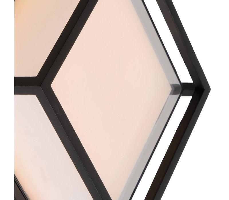SINGA Wandlicht LED 9.6W IP54 17/17/10cm Zwart