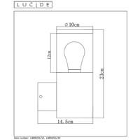 FEDOR Wandlicht E27/40W H23cm Zwart
