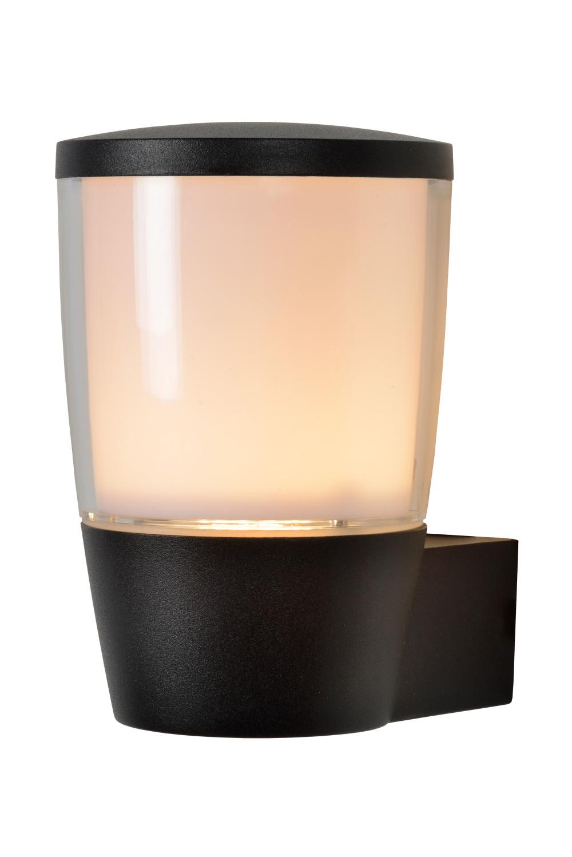 Lucide NINKE Wandlamp Buiten-Zwart-Ø11-1xGU10-5W-IP54