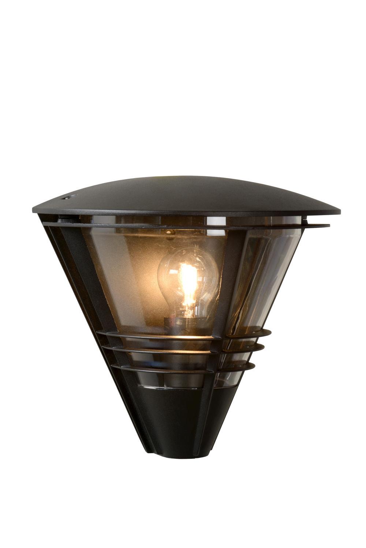 LIVIA Wandlamp Buiten-Zwart-1xE27-60W-IP44-Alumin.