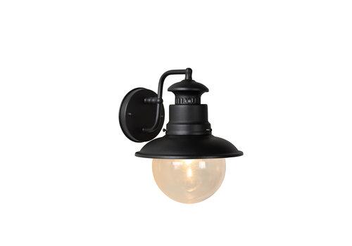 Lucide FIGO Wandlamp Buiten-Zwart-Ø21,3-1xE27-60W-IP44