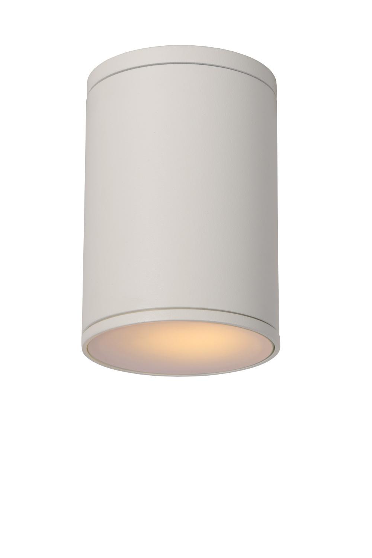 Lucide TUBIX Plafondlicht IP54 E27 H15.3 D10.8cm Wit