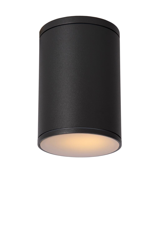 Lucide TUBIX Plafondlicht IP54 E27 H15.3 D10.8cm Antracie