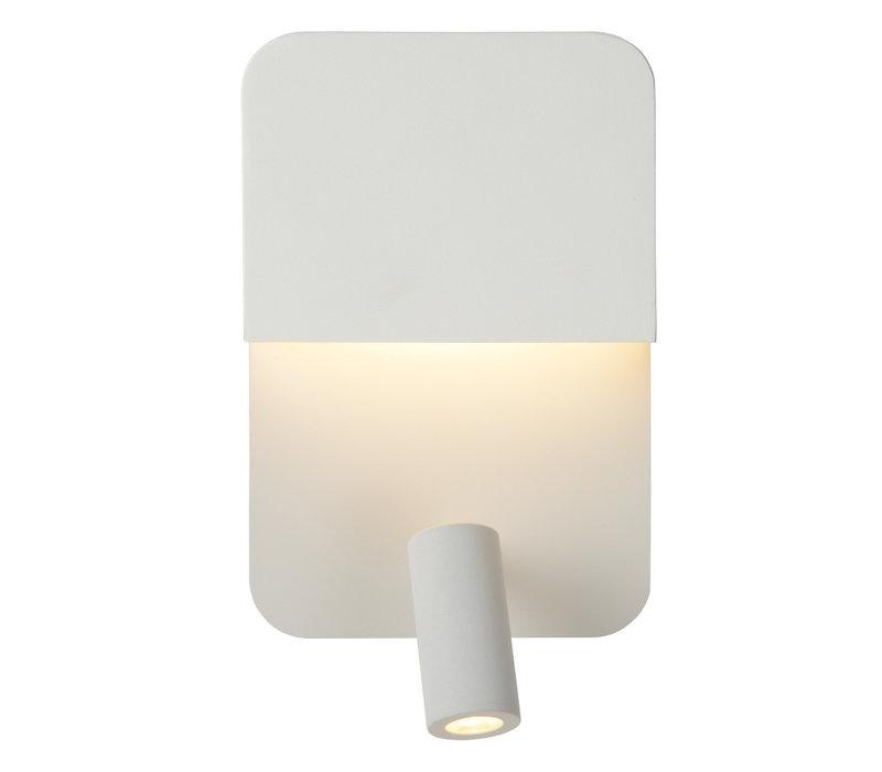 BOXER Wandlicht LED 5W+3W + USB Wit