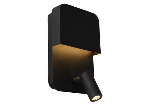 Lucide BOXER Wandlicht LED 5W+3W + USB Zwart