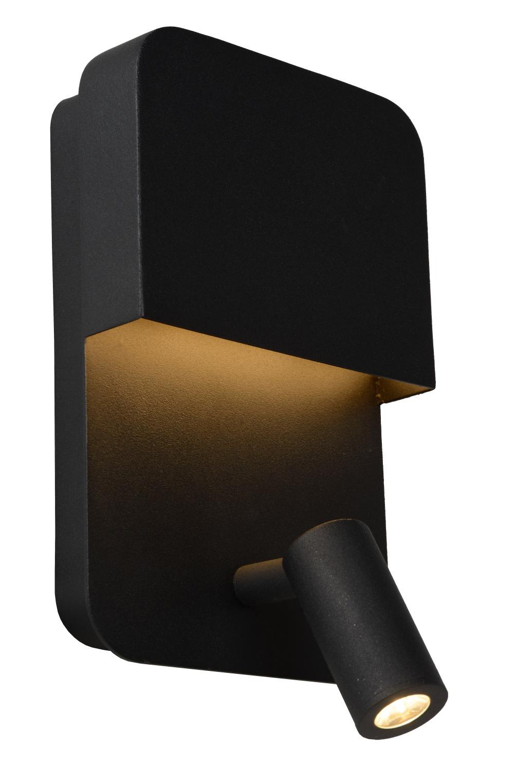 Lucide BOXER Wandlamp-Zwart-LED-10W-3000K