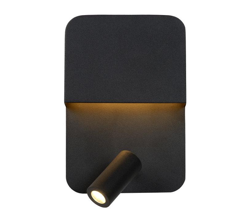 BOXER Wandlicht LED 5W+3W + USB Zwart