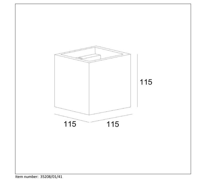 GIPSY Wandlicht G9 11.5x11.5x11.5cm Taupe