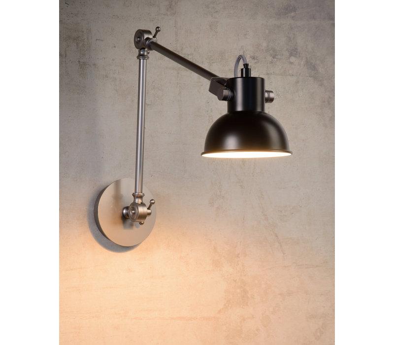 CRUNCH Wandlicht E14 L53 H47cm Zwart