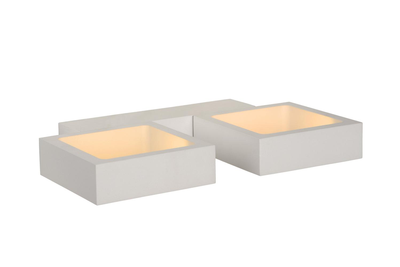 Lucide IXX Wandlicht LED 2x4W 3000K L24 W14 H3cm Wit
