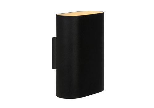 Lucide OVALIS Wandlamp-Zwart-2xE14-9W-Metaal