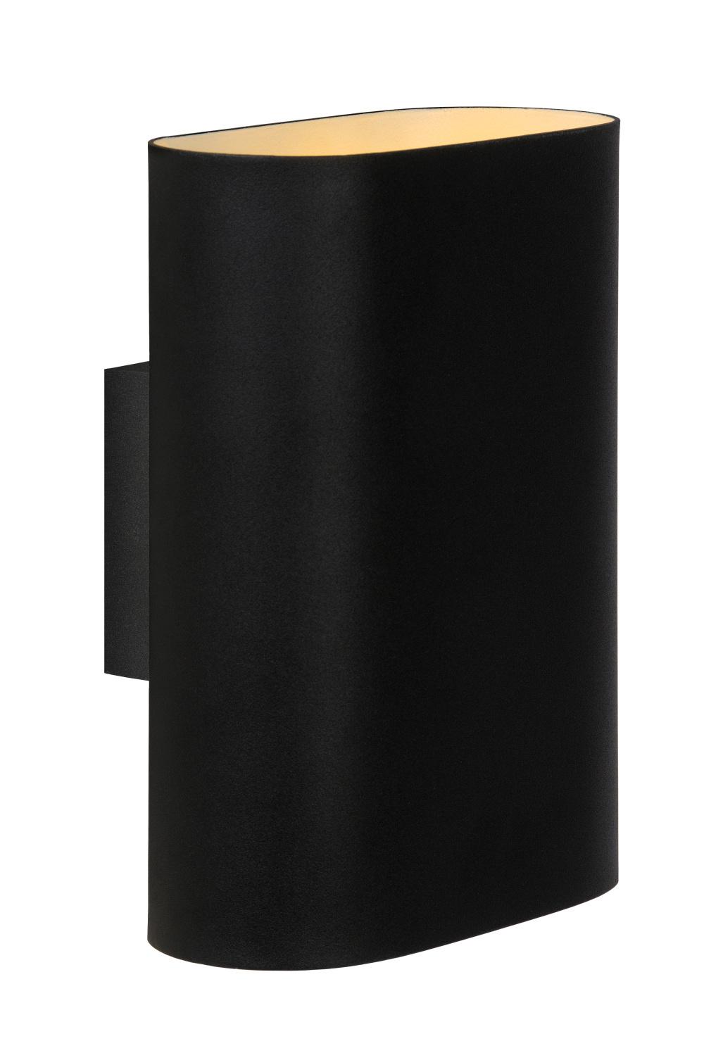 Lucide Wandlamp Ovalis zwart