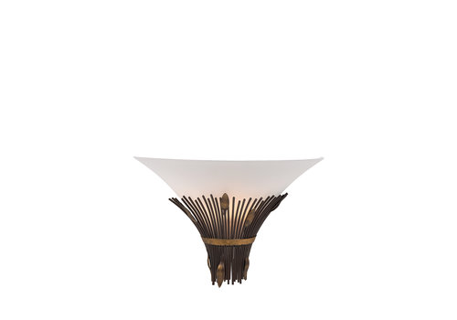 Lucide CANNA Wandlicht 1xE14 D35 Scavo glas/ Roest
