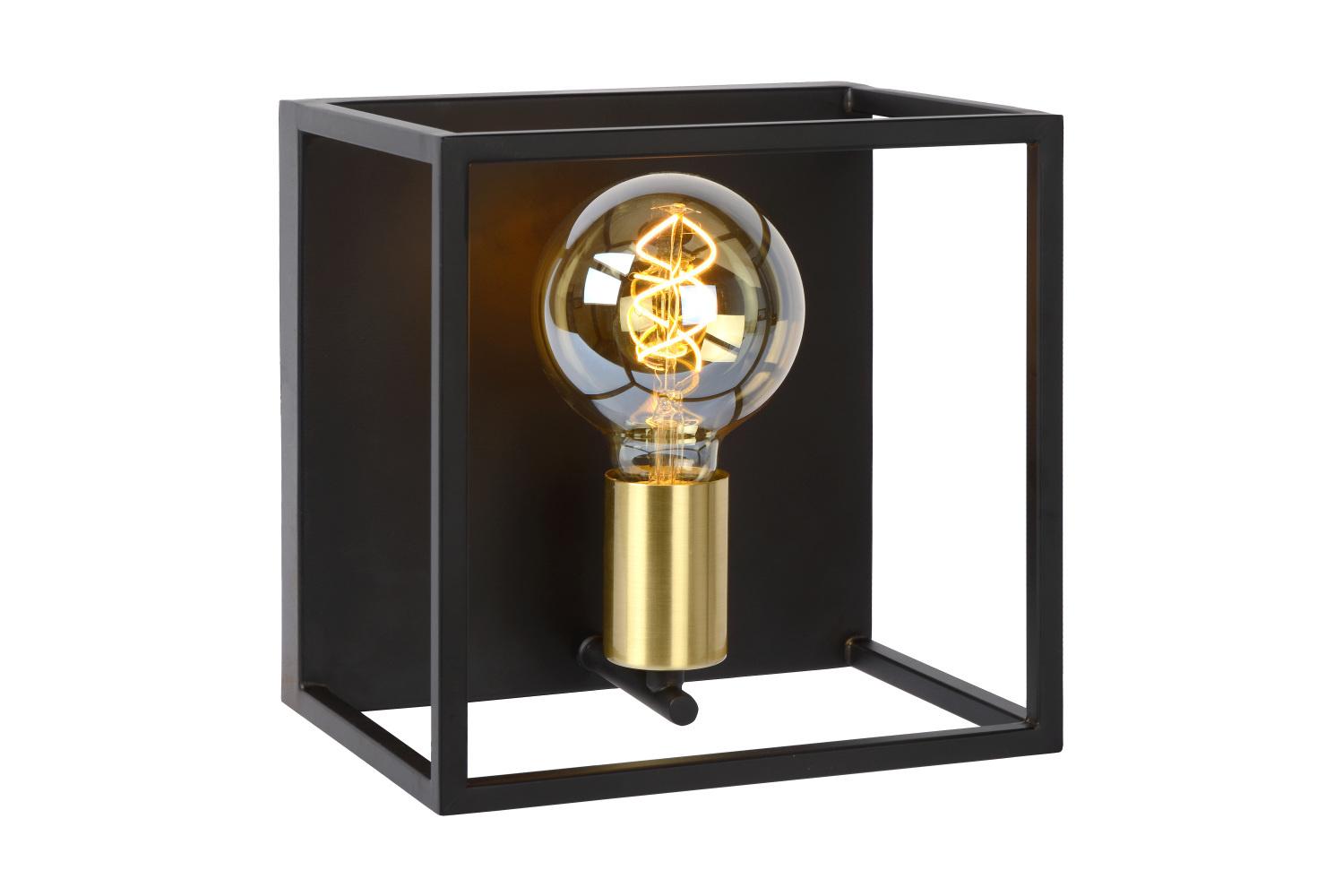 Lucide RUBEN Wandlamp-Zwart-1xE27-40W-Metaal