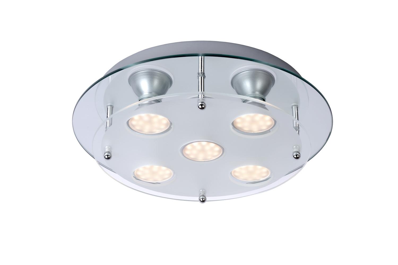 Lucide READY-LED Plafondlicht 5x50412/03/36 Glas/Chroom