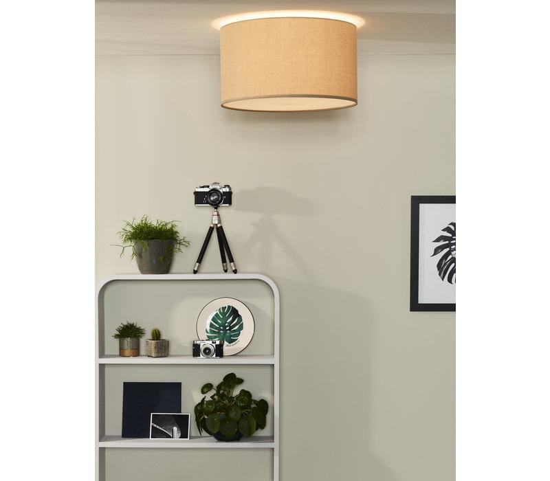 CORAL Plafondlicht E27 D45 H25cm taupe