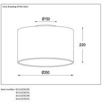 CORAL Plafondlicht E27 D35 H20cm Wit