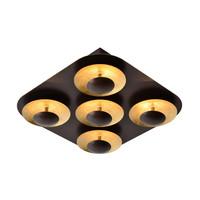 AMINE Plafondlicht LED 5x5W 34/34cm Roest Bruin