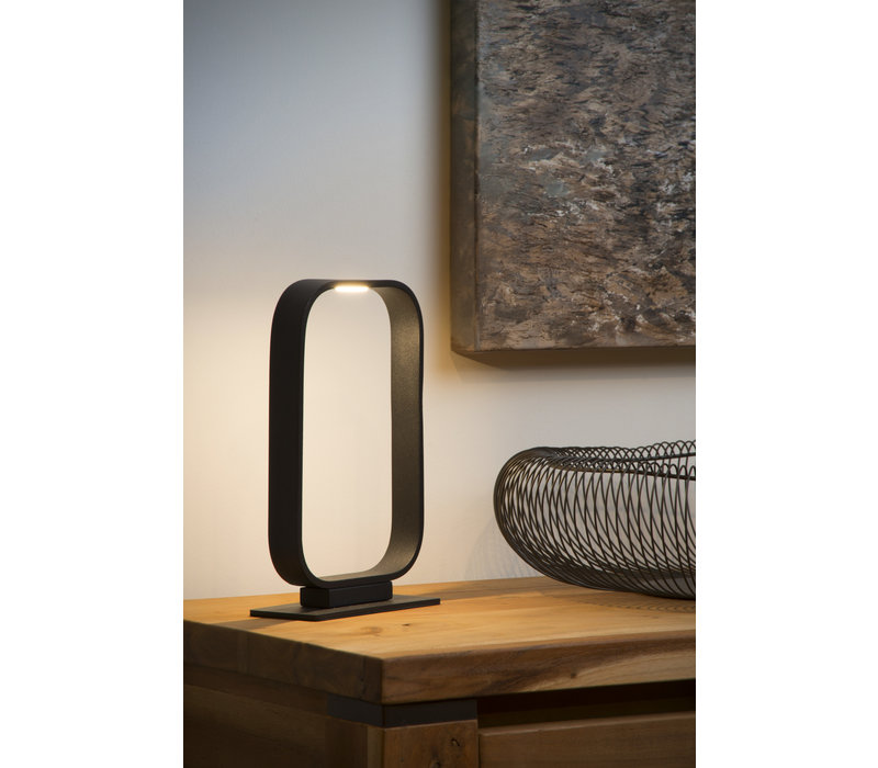 MIKA Tafellamp LED 5W 16/7/26cm Zwart