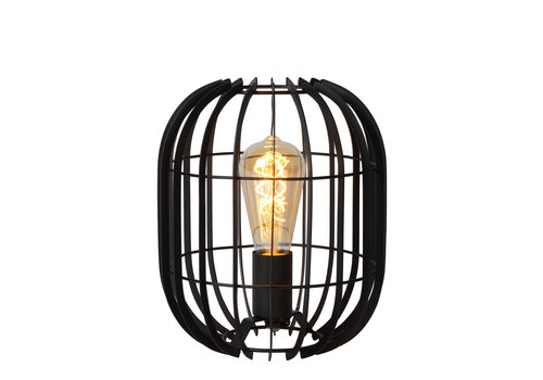 Lucide REDA Tafellamp E27/40W H26cm Zwart