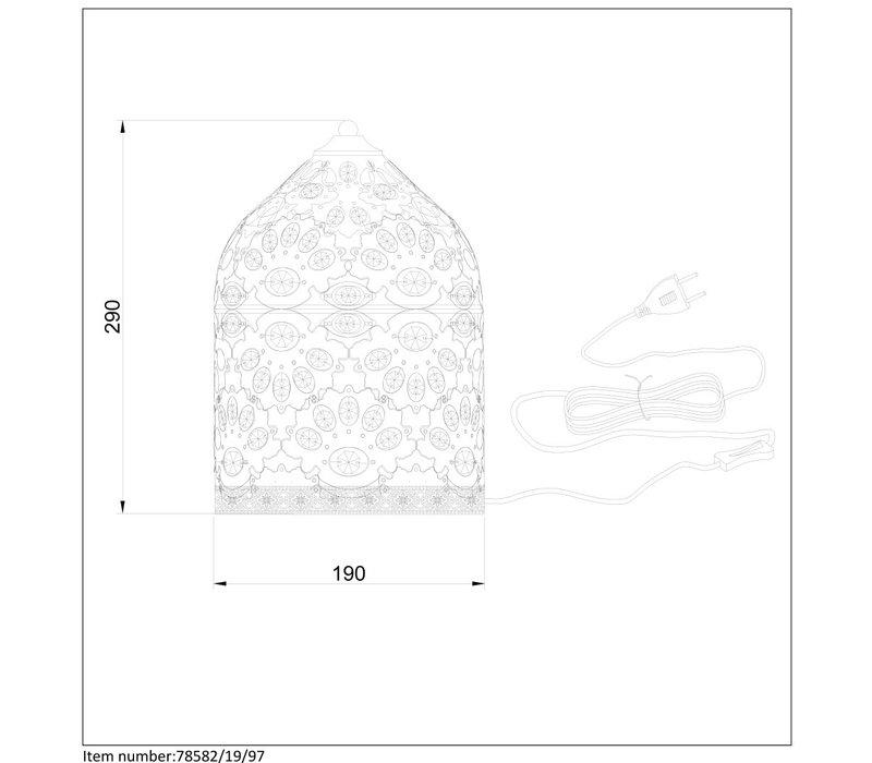 BYRSA Tafellamp  E14 H 30cm Roestbruin