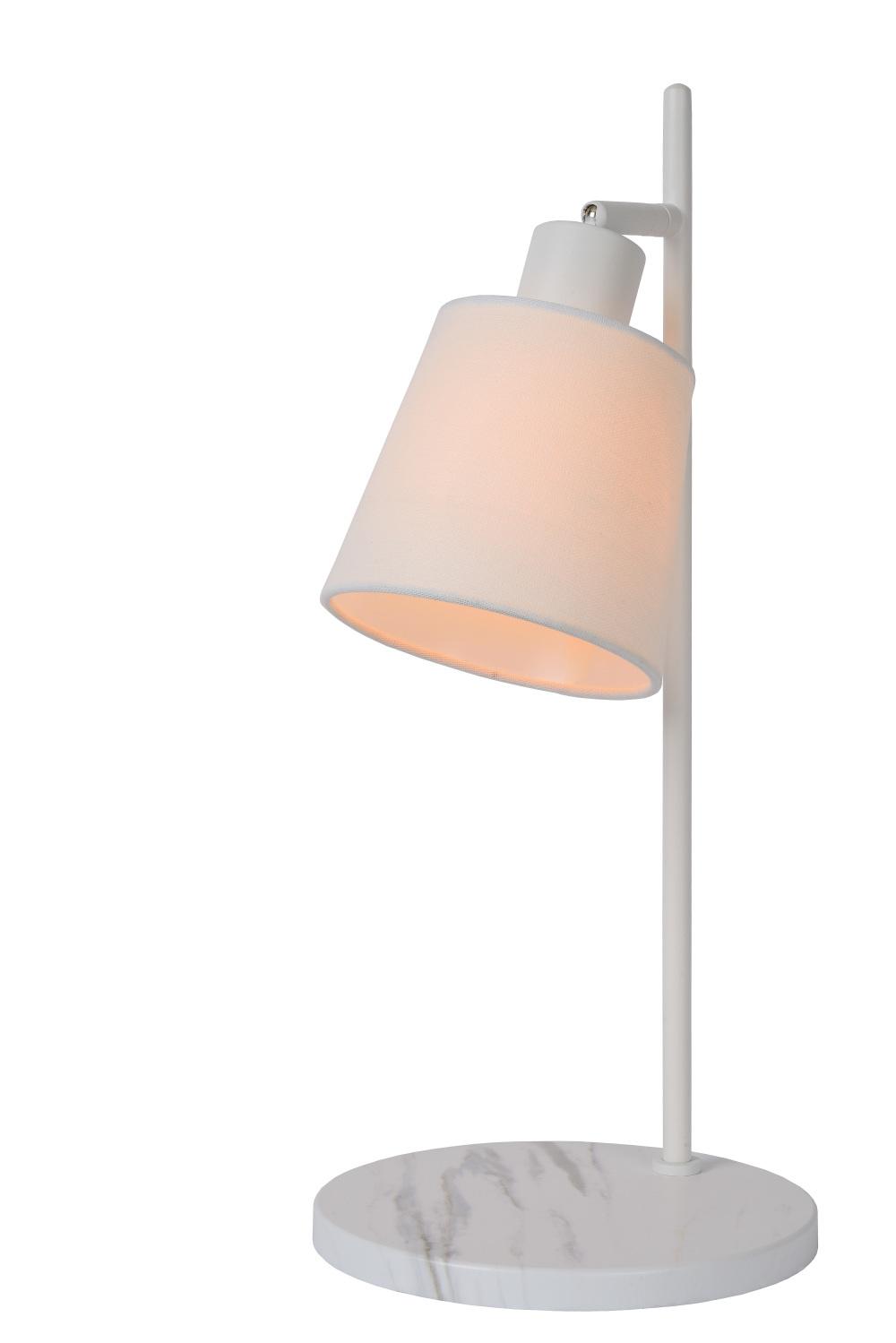 Lucide PIPPA Tafellamp-Wit-1xE27-25W-Metaal