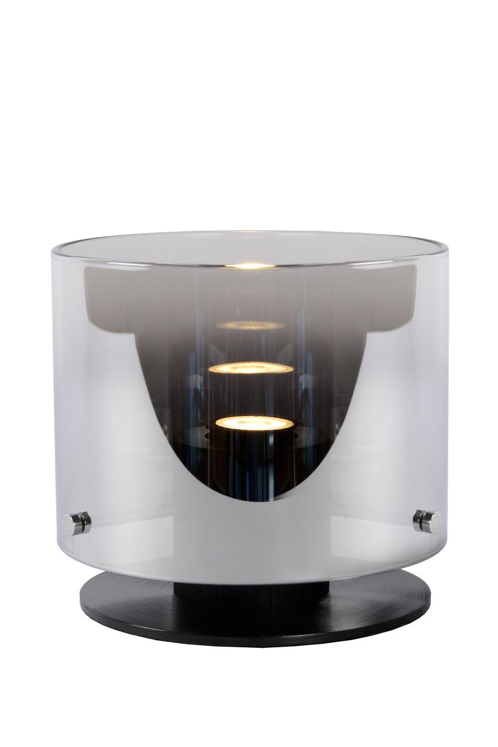 Lucide OWINO Tafellamp GU10 LED  20cm H 17cm Zwart/Fum