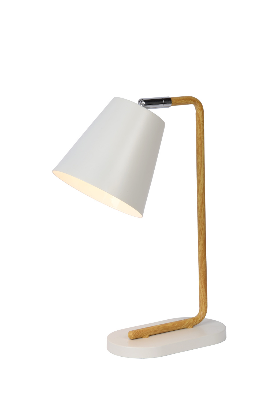 Lucide CONA Tafellamp-Wit-1xE14-40W-Metaal