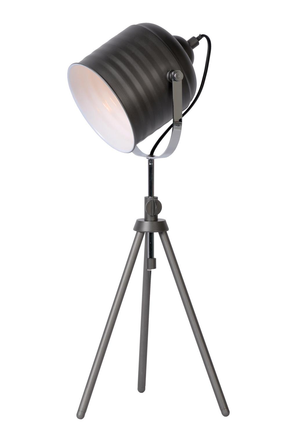 Lucide STUDIO Tafellamp E14 H50-60 22.5 cm Metaal Grijs