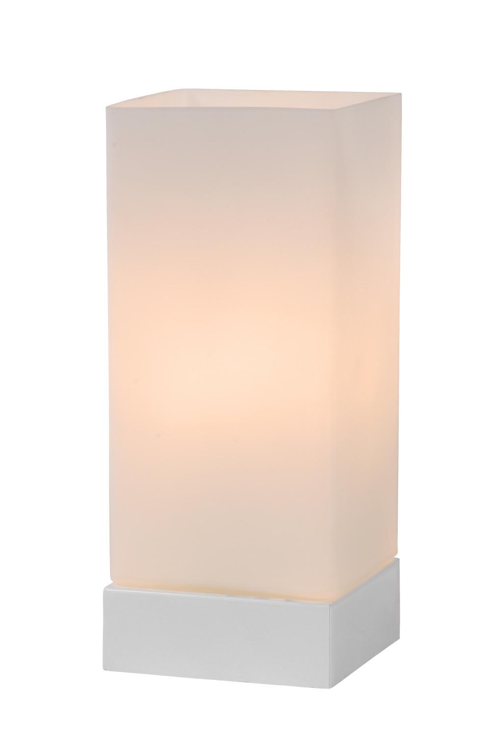 Lucide COLOUR-T. Tafellamp-Opaal-1xE14-40W-3 StepDim-Glas