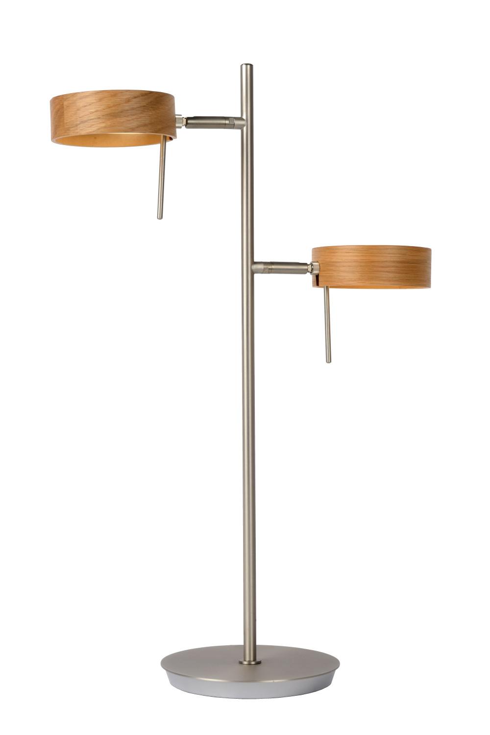 Lucide ENIA LED Tafellamp 2x5W H54.5cm Hout