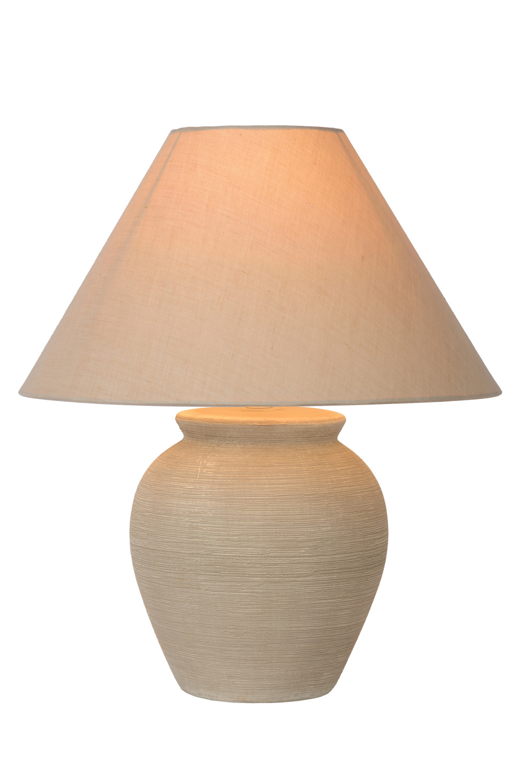 Lucide RAMZI Tafellamp E27 H42cm Beige