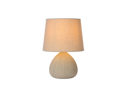 Lucide RAMZI Tafellamp E14 H26cm Beige