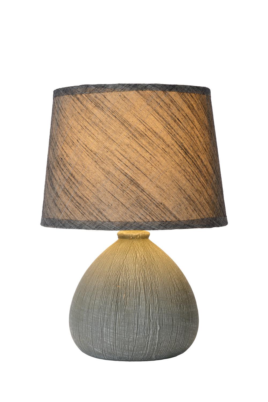 Lucide RAMZI Tafellamp E14 H26cm Grijs