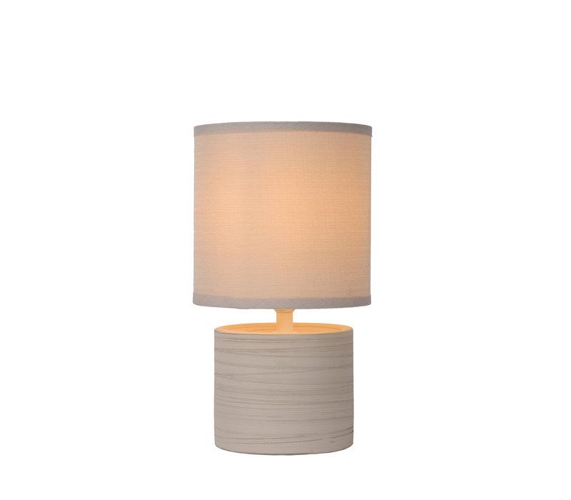 GREASBY Tafellamp E14 H26cm Beige